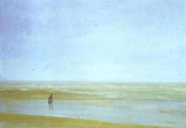 Sea and Rain, Oil by James Abbott Mcneill Whistler (1834-1903, United States)