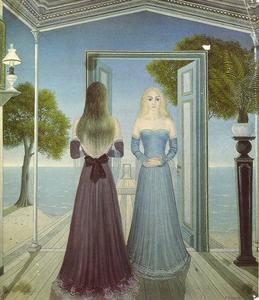Paul Delvaux - At the Door