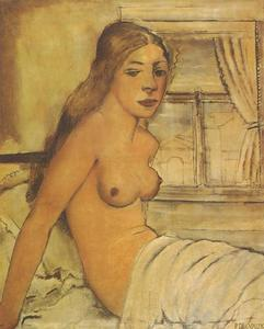 Paul Delvaux - Nude Getting Up