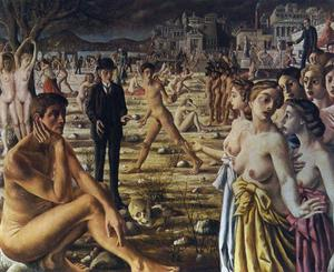 Paul Delvaux - The City Worries