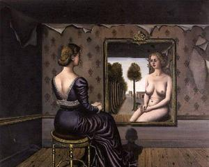Paul Delvaux - The Mirror