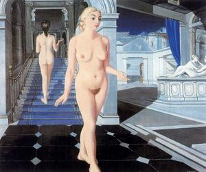 Paul Delvaux - The Staircase