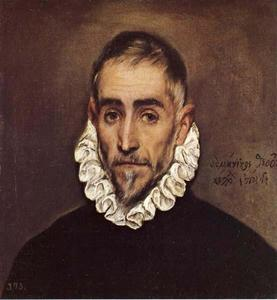 Elderly Gentleman, Oil by El Greco  (order Fine Art painting copy El Greco (Doménikos Theotokopoulos))