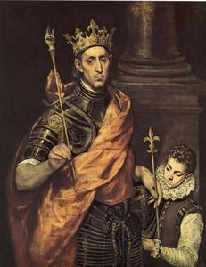 El Greco (Doménikos Theotokopoulos) - St. Louis King of France with a Page