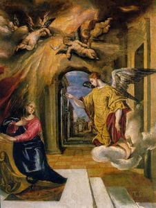 El Greco (Doménikos Theotokopoulos) - The Annunciation