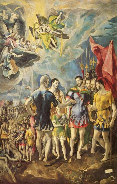 The Martyrdom of St. Maurice, Oil by El Greco (Doménikos Theotokopoulos) (1541-1614, Greece)