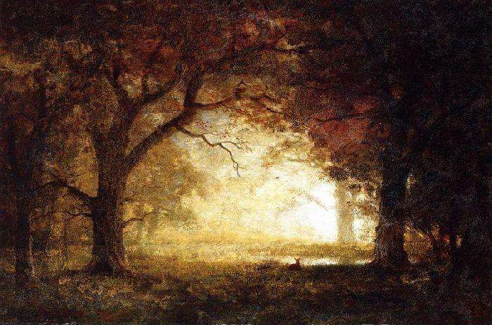Forest Sunrise, Oil On Canvas by Albert Bierstadt (1830-1902, Germany)