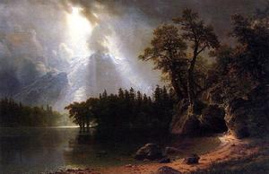 Albert Bierstadt - Passing Storm over the Sierra Nevada
