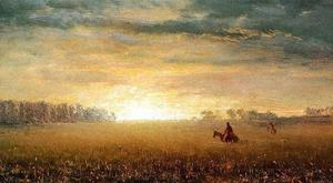 Albert Bierstadt - Sunset of the Prairies