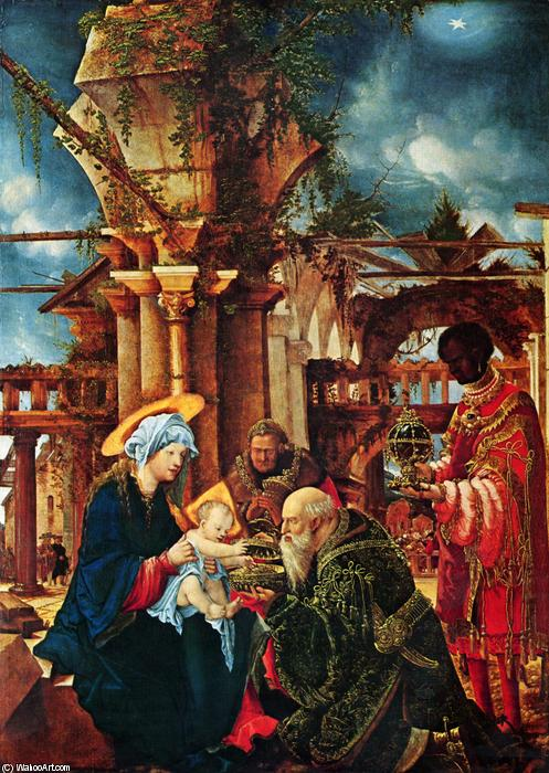 The Adoration of the Magi, 1535 by Albrecht Altdorfer (1480-1538, Germany) | Oil Painting | WahooArt.com