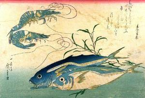 Ando Hiroshige - Horse-mackerel and Prawn