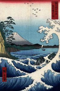 Ando Hiroshige - View of Mount Fuji from Satta Point in the Suruga Bay