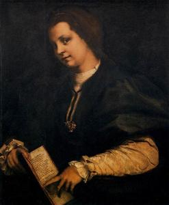 Andrea Del Sarto - Portrait of a Lady with a Book