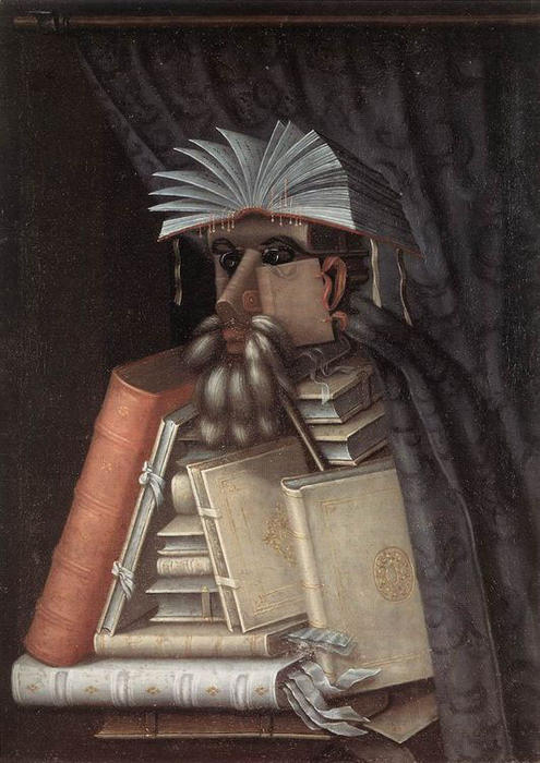 The Librarian, Oil On Canvas by Giuseppe Arcimboldo (1527-1593, Italy)