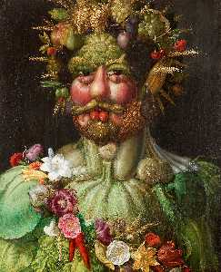 Giuseppe Arcimboldo - Vortumnus (Vertumno) - (paintings reproductions)