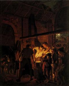 Joseph Wright Of Derby - A Blacksmith-s Shop
