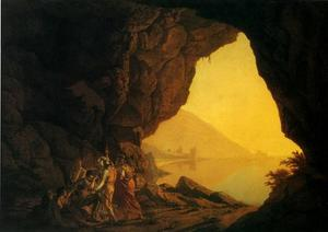 Joseph Wright Of Derby - A Grotto by the Sea-Side in the Kingdom of Naples