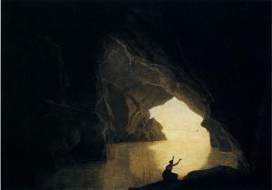 Joseph Wright Of Derby - A Grotto in the Gulf of Salernum, with the Figure of Julia, Banished from Rome