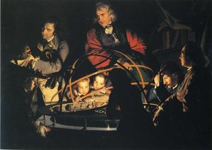 Joseph Wright Of Derby - A Philosopher Giving That Lecture on the Orrery, in Which a Lamp is Put in Place of the Sun