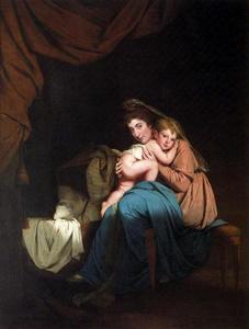 Joseph Wright Of Derby - Lady Wilmot and Her Child