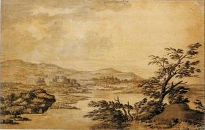 Joseph Wright Of Derby - Landscape Study Development from a Blot