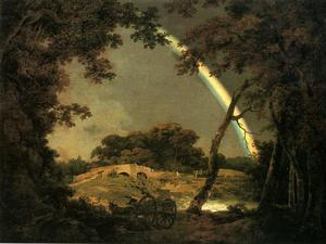 Joseph Wright Of Derby - Landscape with a Rainbow