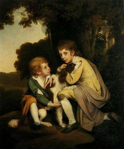 Joseph Wright Of Derby - Thomas and Joseph Pickford as Children