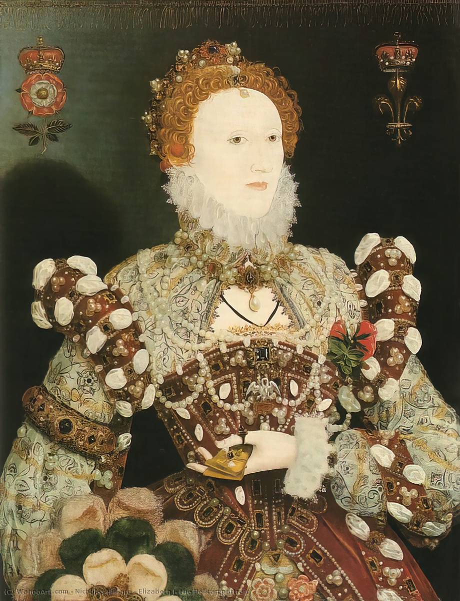 Elizabeth I, the Pelican portrait, Oil by Nicholas Hilliard (1577-1619, United Kingdom)