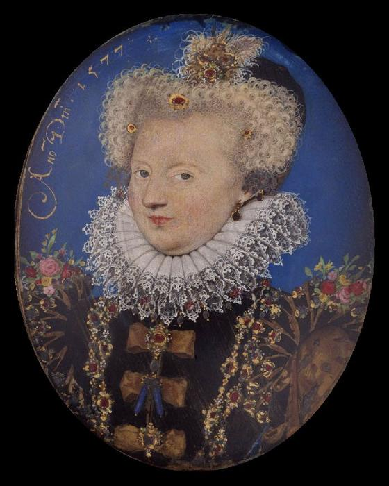 Marguerite of Navarre by Nicholas Hilliard (1577-1619, United Kingdom) | Famous Paintings Reproductions | WahooArt.com