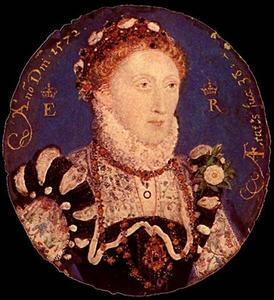 Nicholas Hilliard - Miniature of Elizabeth I