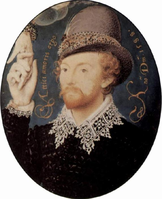 Portrait of a stranger by Nicholas Hilliard (1577-1619, United Kingdom) | WahooArt.com