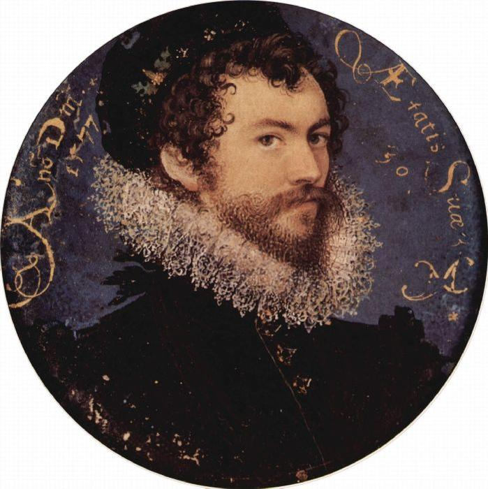 Self-portrait, Oil by Nicholas Hilliard (1577-1619, United Kingdom)