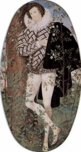 Nicholas Hilliard - Young Man Among Roses