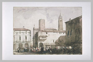 Richard Parkes Bonington - Piazza Bologna