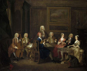 William Hogarth - A Musical Party, The Mathias family