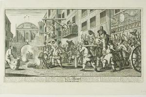 William Hogarth - Burning the Rumps at Temple Bar, plate eleven from Hudibras