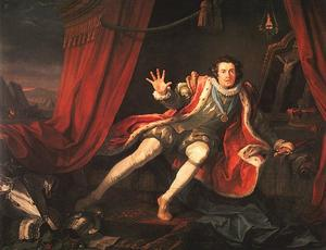 William Hogarth - David Garrick as Richard III