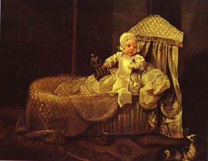 William Hogarth - Gerard Anne Edwards in His Cradle