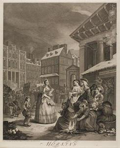 William Hogarth - Morning, plate one from The Four Times of the Day