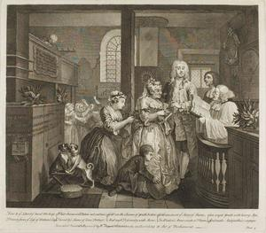 William Hogarth - Plate five, from A Rake's Progress