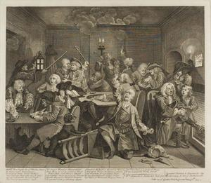 William Hogarth - Plate six, from A Rake's Progress