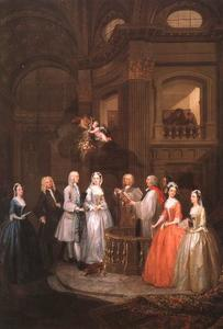 William Hogarth - The Wedding of Stephen Bechingham and Mary Cox