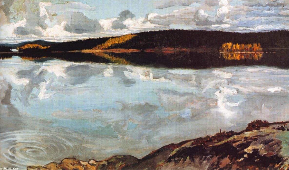 View Over Lake Ruovesi, Oil On Canvas by Akseli Gallen Kallela (1865-1931, Finland)