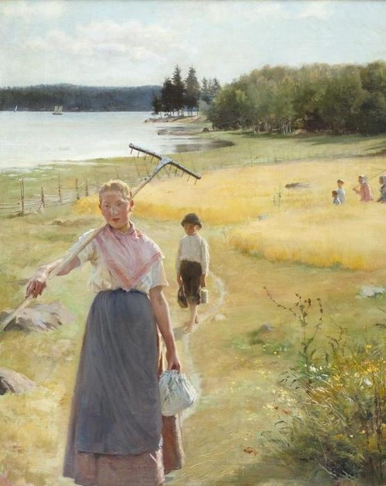 August by Albert Edelfelt (1854-1905, Finland) | Museum Quality Reproductions | WahooArt.com