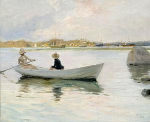 Albert Edelfelt - Boats in Harbour