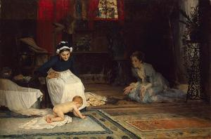 Albert Edelfelt - In the nursery