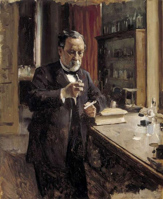 Louis Pasteur Study by Albert Edelfelt (1854-1905, Finland) | Famous Paintings Reproductions | WahooArt.com