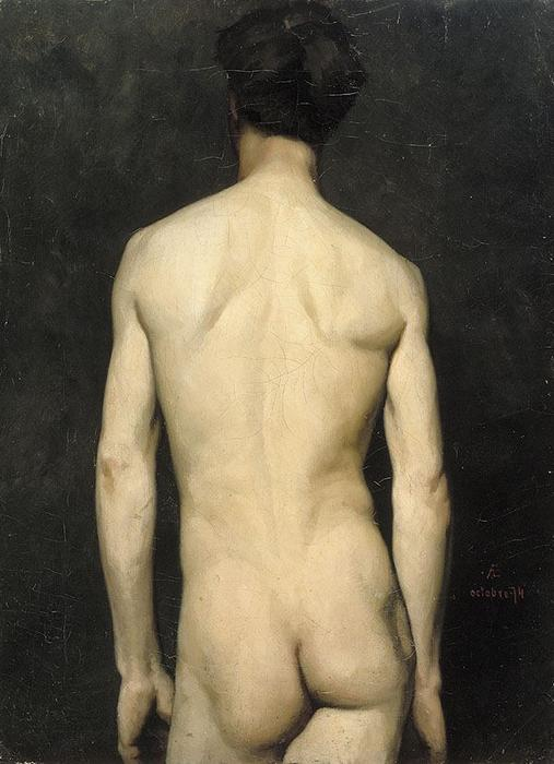 Male Nude 1 by Albert Edelfelt (1854-1905, Finland) | Museum Quality Reproductions | WahooArt.com