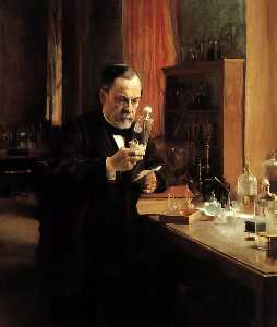 Albert Edelfelt - Portrait of Louis Pasteur