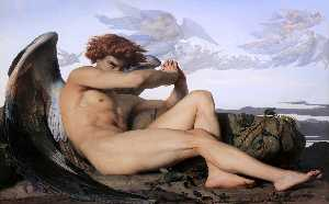 Alexandre Cabanel - Fallen Angel - (Famous paintings reproduction)